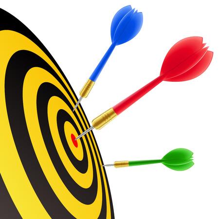 intentie: Darts treft het doel