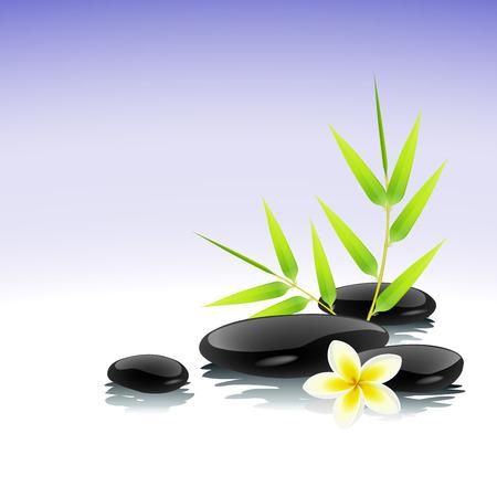 stein schwarz: Zen-Hintergrund Illustration