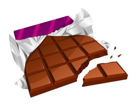candy bar: Barretta di cioccolato tritato Vettoriali