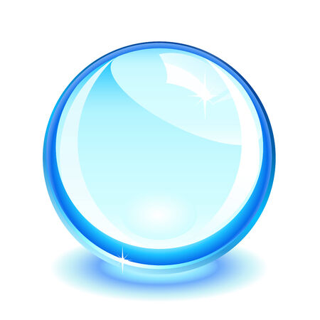 predictions: Blue crystal ball over white