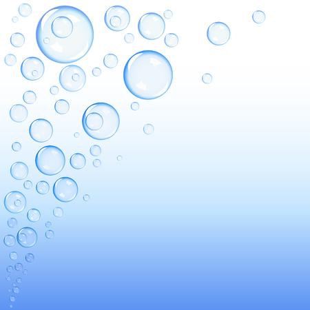 Blue bubbles gradient background Stock Vector - 5892791