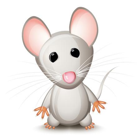 Kleinen grauen Maus Vektorgrafik
