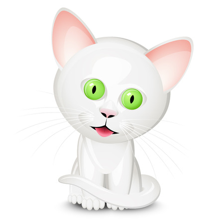 Little white cat Illustration
