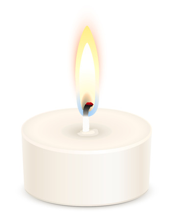 tealight: White tealight candle isolated on white Illustration