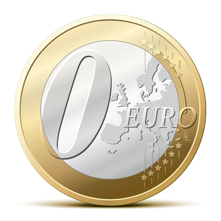 Zero euro coin, for a free item