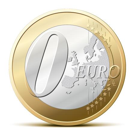 euro coin: Zero euro coin, for a free item