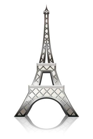 logotipo turismo: Ilustraci�n de la Torre Eiffel  Vectores
