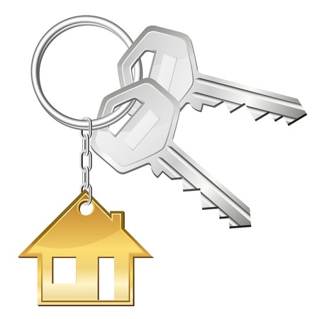Zwei Schlüssel für Zuhause  Vektorgrafik