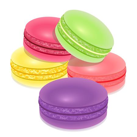 マカロン: 白おフランス菓子マカロン