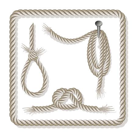 impiccata: Set di corde over white, completamente modificabili