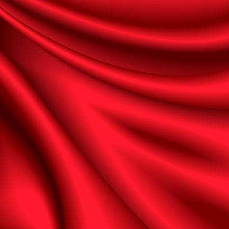 Vector illustration of red silk background Vector