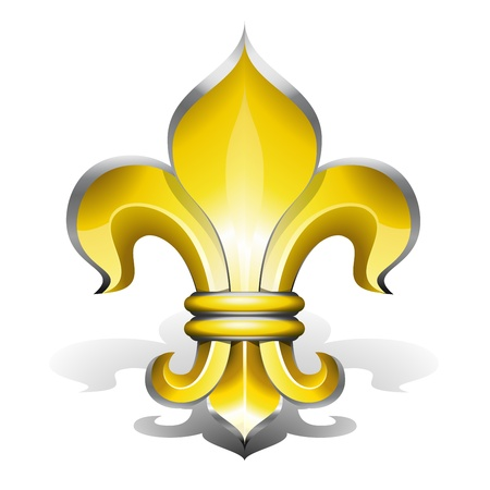 quebec: Fleur de Lys, antique symbol of french royalty