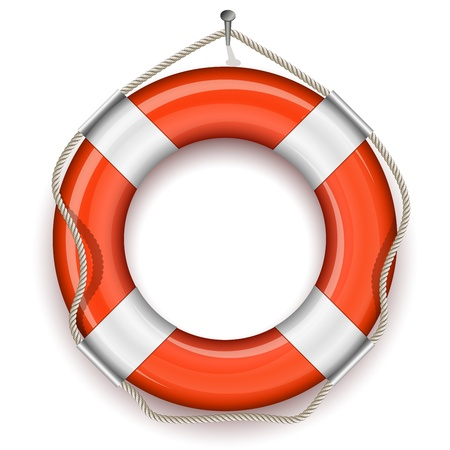 aro salvavidas: Ilustraci�n del cintur�n de la vida