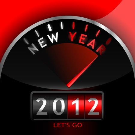 2012 counter on the dashboard Stock Vector - 8808662