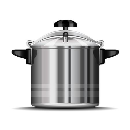 utensilios de cocina: Olla a presi�n para cocinar Vectores