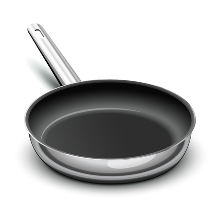 Frying pan for cooking Illustration