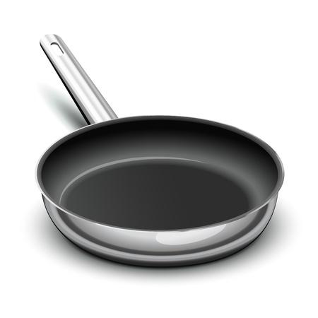 Koekenpan voor het koken Vector Illustratie