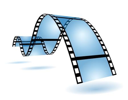 Blue film strip in blue