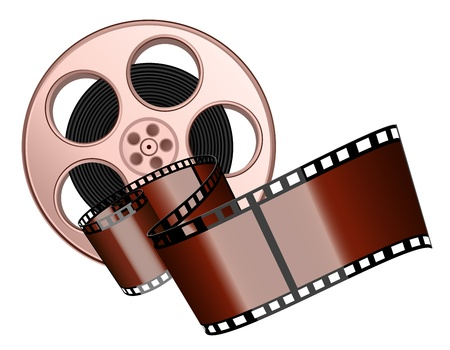 movie film: Film roll and strip isolated