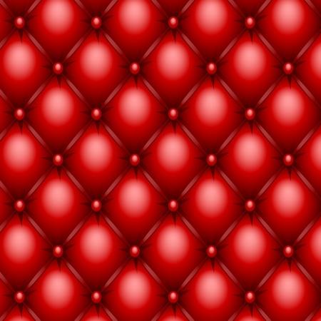 acolchado: Textura de la tapicer�a roja