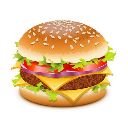 Hamburguesa con queso, hamburguesa con queso en blanco