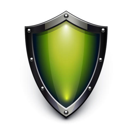 Green security shield Stock Vector - 11596133