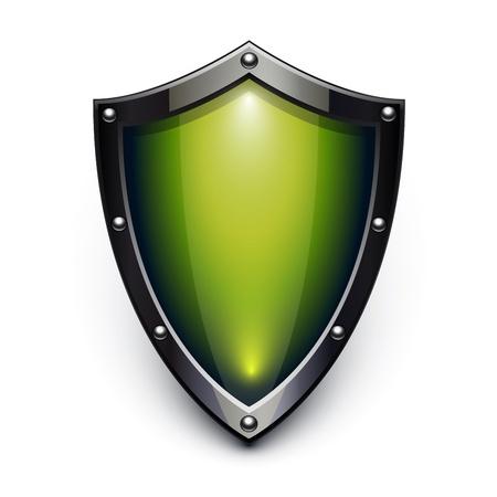 Verde escudo de seguridad