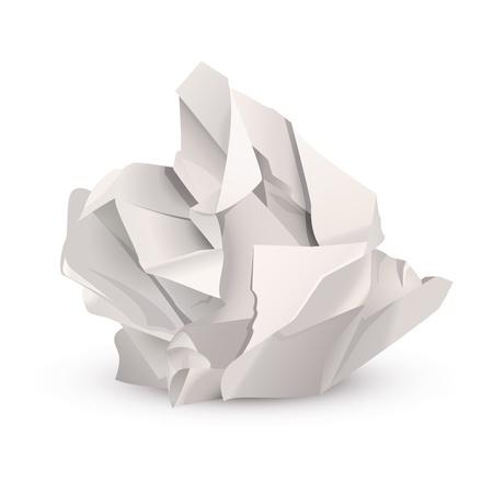 paper ball: Crumpled paper ball