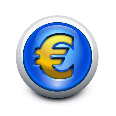 Glassy button Euro Stock Vector - 12108746