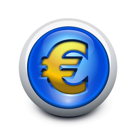 Glassy button Euro Stock Vector - 12108746