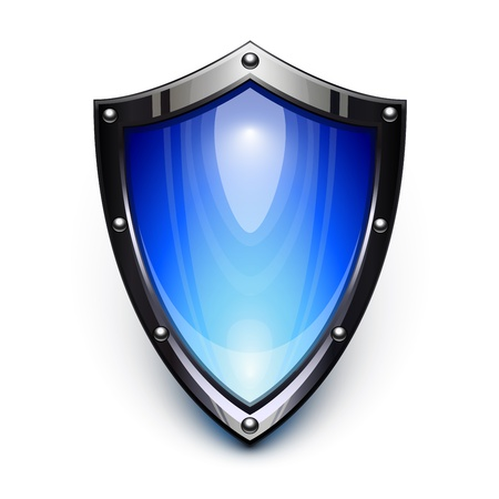 Blue security shield Illustration