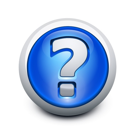Glassy button with Question mark Vector