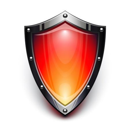 Rouge bouclier de sécurité