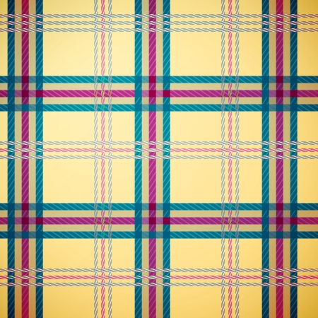 Tartan plaid pattern background (yellow, green, magenta) Vector