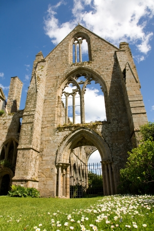 Ruins of the abbey of Beauport in Paimpol, Brittany, France Stock Photo - 20237303