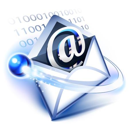 correspondencia: Concepto del email de la correspondencia digital,