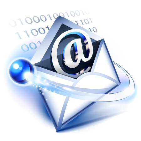 electronic mail: Email concept of digital correspondence Illustration