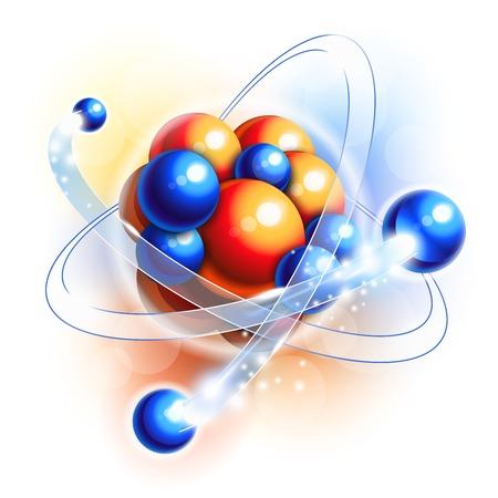 Molecuul, atomen en deeltjes in beweging Vector Illustratie