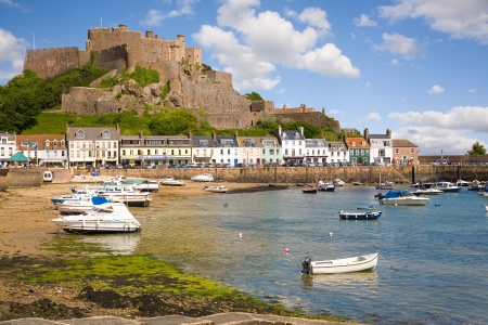 Gorey and Mont Orgueil Castle, Jersey, The Channel Islands