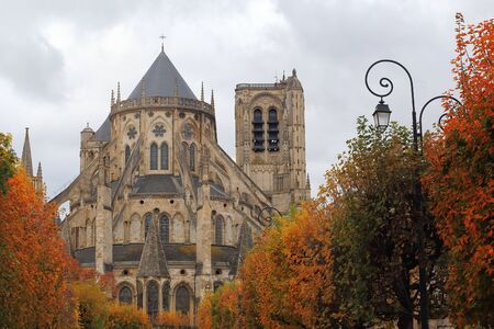 cathedrale: Cathedral Saint-Etienne in autumn, Bourges, Centre, France