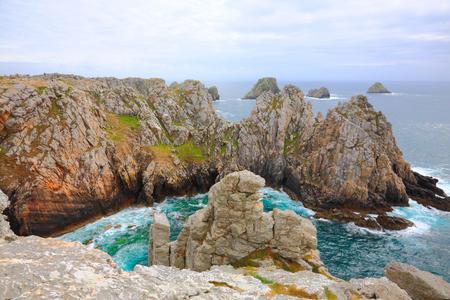ペン Hir 岬、Crozon の半島。ブルターニュ、フランス 写真素材