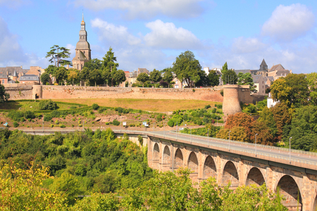 dinan: Viaduct and Castle walls, Dinan, Brittany, France