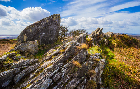 Roc'h Trevezel summit of Brittany, north-western France, Europe
