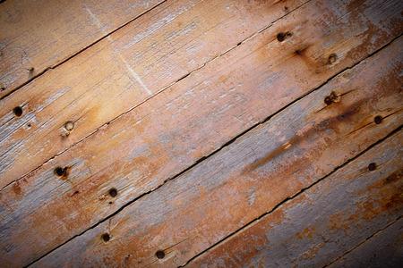 Rustic brown wood planks background with vignetting effect Reklamní fotografie