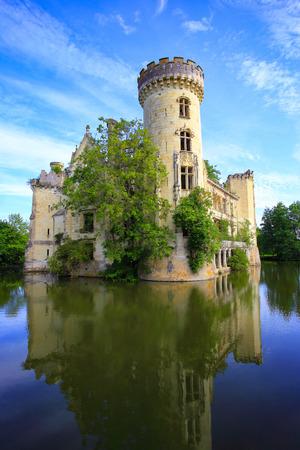 Fairytale ruin of La Mothe-Chandeniers castle in the Nouvelle-Aquitaine region, France, Europe Reklamní fotografie