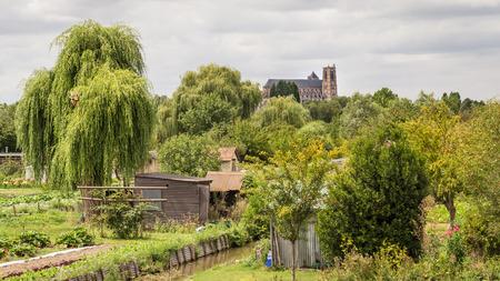 Saint-Etienne Cathedral from the marshes, Bourges, Centre-Val de Loire, France Reklamní fotografie