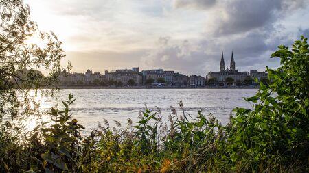 Panorama of Bordeaux and the Garonne river - France,  Nouvelle-Aquitaine Reklamní fotografie