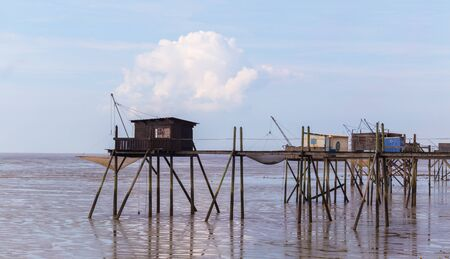 Huts of fishermen in Yves bay, France Reklamní fotografie