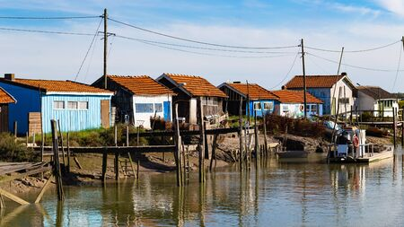La Tremblade, Oyster farming harbour, Charente Maritime, France Reklamní fotografie