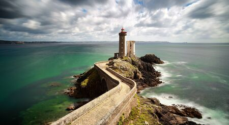 View of the lighthouse Phare du Petit Minou in Plouzane, Brittany France Reklamní fotografie